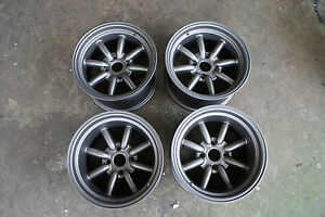 For Ae86 Datsun Ta22 S30 Jdm 15 114 3x4 Staggered Wheels 240z Watanabe Style Rs