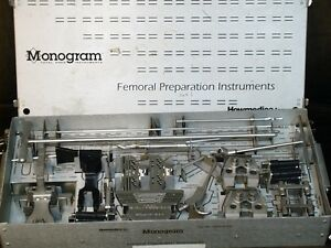 Monogram Howmedica Femoral Preparation Instruments With Case Surgical Tray