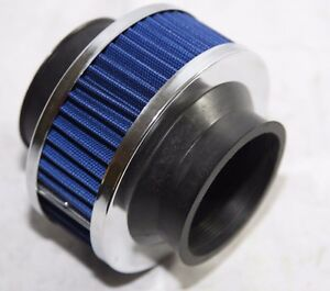 Blue 2 75 Mesh Bypass Valve Pipe Turbo Cold Cool Air Intake Filter