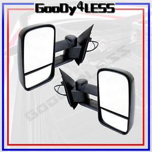 For 97 03 Ford F150 Light Duty Reg Super Cab Power Extendable Towing Mirrors