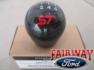 13 Thru 19 Fiesta Focus St Oem Ford Carbon Fiber 6 speed Gear Shift Knob W Logo