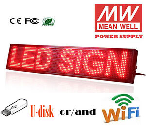 New Update 8 x40 Led Sign Red Led Programmable Scrolling Message Display Board