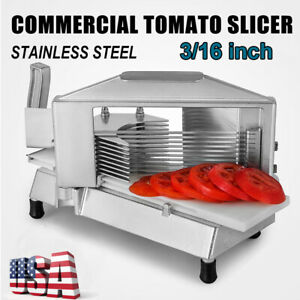 Commercial Tomato Slicer 3 16 cutting Machine Stainless Steel Blade For Kitchen