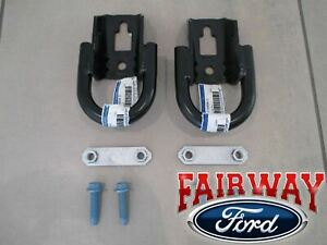 09 Thru 20 F 150 Oem Ford Parts Black Tow Hook Set Pair W Hardware Front