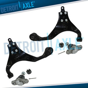 Both 2 New Front Lower Control Arms Lower Ball Joints Fits Kia Sportage