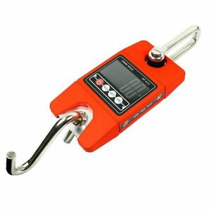 300kg 600lbs X 100g Digital Hanging Scale Sf 912 Industrial Crane Scale red