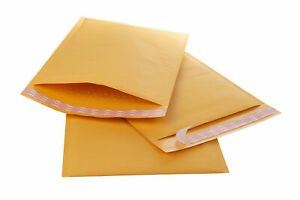 8 5x11 Gold Kraft Bubble Mailer Padded Envelopes Bubble Mailers 2 Free Shipping