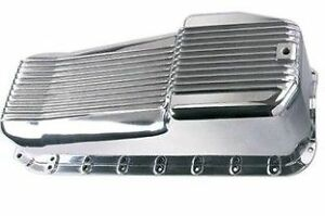 Small Block Chev Polished Aluminium Oil Pan Sump Suit Early 1965 79 Sbc