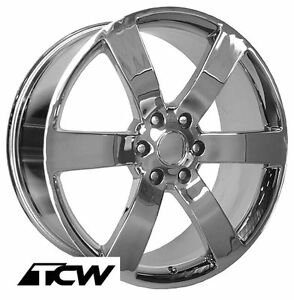 22 22x9 Chevy Trailblazer Ss Oe Replica Chrome Wheels Rims Fit Gmc Envoy 02 09