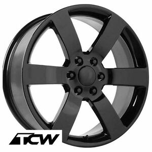 20 Inch 20x8 Chevy Trailblazer Ss Oe Factory Replica Gloss Black Wheels Rims