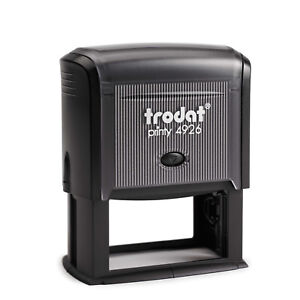 Trodat 4926 Selfinking Rubber Stamp 73mm X 35mm Ideal For Business Address
