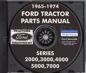 1965 1974 Ford Tractor Master Parts Book Cd rom Catalog 2000 3000 4000 5000 7000