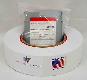 Red Ink Cartridge 787 0 Plus 1 Postage Tape Roll Of Connect Series