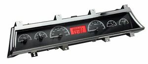1966 To 1967 Chevelle Ss Dakota Digital Black Alloy Red Vhx Analog Gauge Kit