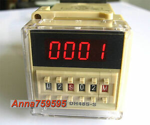 110v 120v Ac Programmable Double Time Delay Relay Dh48s s Free Socket Base Ul