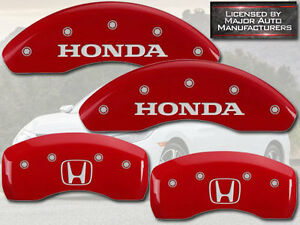 2004 2005 Honda Civic Si Front Rear Red Mgp Brake Disc Caliper Covers H