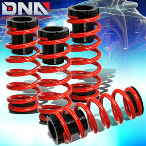 For 85 98 Vw Golf Jetta 1 3 Scaled Suspension Lowering Coilover Red Coil Springs