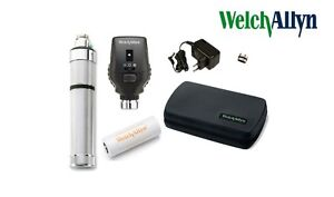 Welch Allyn 3 5v Coaxial Ophthmoscope Model 11720 Rechargeable Set