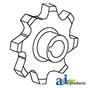 A 255806m1 Massey Ferguson Parts Sprocket Grain Elevator 550 750 751 760