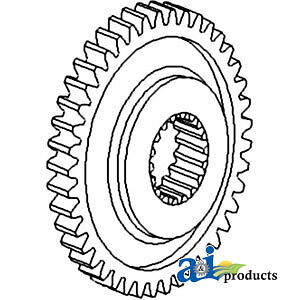 A 1682690m1 Massey Ferguson Parts Gear 4th Speed 550 158 20 30 31 50h