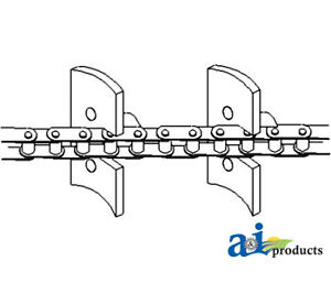 A 248504m91 Massey Ferguson Parts Chain Return Grain Elev 410 510 550