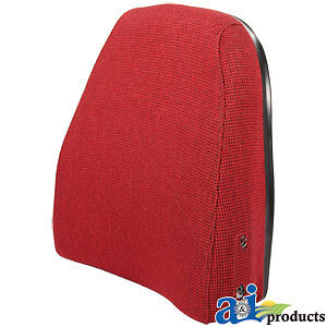 A 240s10f Massey Ferguson Parts Back Cush Red blk Fabric 850 860 2675 2705
