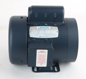 New 115838 00 Leeson 3 4hp Electric Motor 3450 2850 Rpm D56y Frame Single Phase