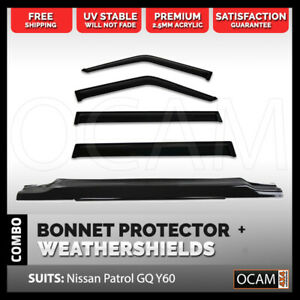 Bonnet Protector Weathershields For Nissan Patrol Gq Ford Maverick 88 97
