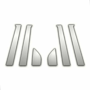 02 08 Chevy Aveo Sedan 6pc Chrome Pillar Post Trim