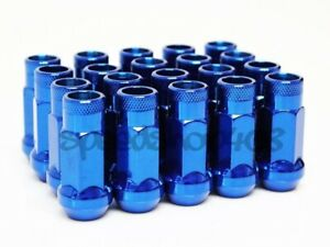 Z Racing Blue Steel 20pcs Lug Nuts 12x1 5mm Open Extended 17mm Key Tuner Acura