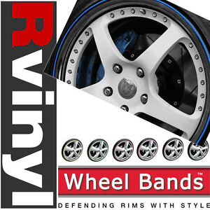 Wheel Bands 13 18 Color Bead Track Alloy Rim Protection For Fiat Mustang