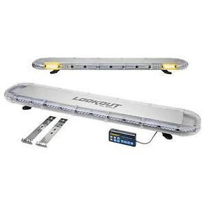 Wolo 7950 a Lookout Plus Amber Low Profile Led Roof Mount Light Bar