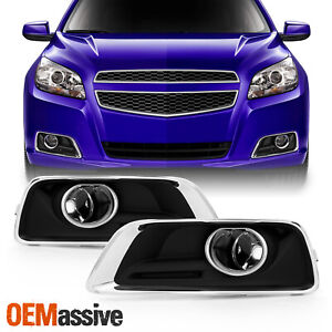 Fit 2013 2014 2015 Chevy Malibu Bumper Clear Fog Lights W Switch Bulbs Cover