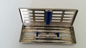 Dental Instruments Kit Composite Instruments Gold Coated S 6