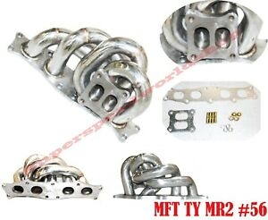Ss Equal Length Turbo Manifold For 91 95 Toyota Mr2 3s gte 3s ge T4 Flange