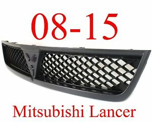 08 15 Mitsubishi Lancer Upper Grill Black New Replacement Mi1200254 7450a095