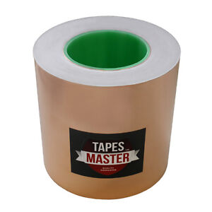 6 X 55 Yds 152mmx50m Copper Foil Tape emi Conductive Adhesive ship From Usa