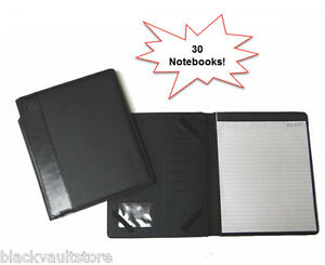 Bulk Lot Of 30 Leather like Deluxe Portfolio With Memo Pad 10 X 8 5