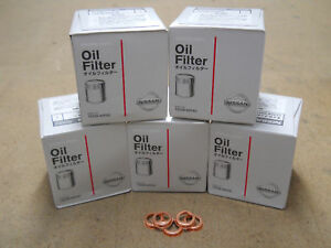 Genuine Nissan Oil Filter 5 Pack With Washers 15208 65f0c New Oem