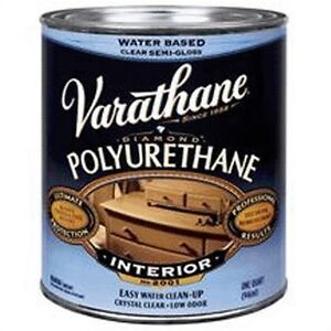 Varathane Interior Water based Polyurethane By Rust oleum pk2