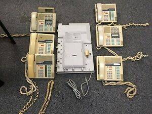 Northern Telecom Norstar 6 Line Phone System With 6 Phones