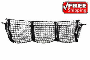 3 Pocket Cargo Net Trunk Suv Pickup Truck Beds Storage Organizer Groceries Tools