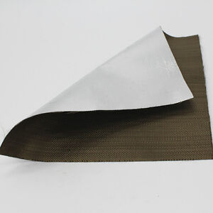 Aluminized Titanium Heat Shield Aluminized Basalt Fiber Cloth 1mx 1m Tape Wrap