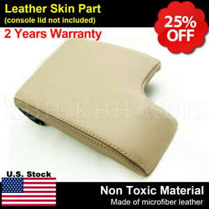 Leather Armrest Center Console Lid Cover For Bmw E46 3 Series 1999 2004 Tan Lhd