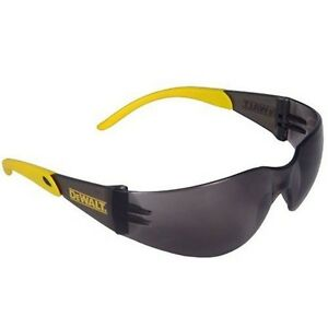 12 Safety Glasses Dewalt Protector Yellow Temples Smoked Lens Stdpg54 2c