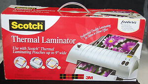 Scotch Thermal Laminator tl901 2 Roller System 2 Laminating Pouches s6315