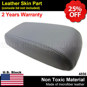 Leather Center Console Armrest Lid Cover Fits For Ford Escape 2001 2004 Gray