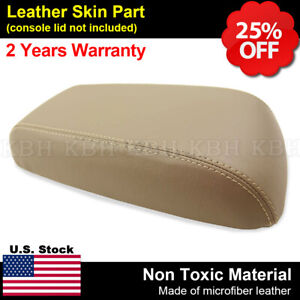 Leather Armrest Center Console Lid Cover Fits Ford Escape 2001 2004 Beige Tan