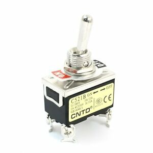 Ac250v 15a Dpst 2 Positions On off Locking Toggle Switch C521b