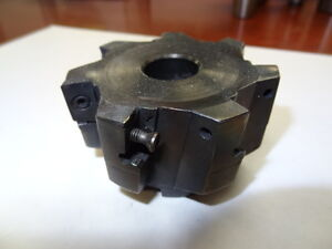 Ingersoll Indexable Face Mill 2j6b03r01 3 7 Flute Carbide Insert Shell Mill
